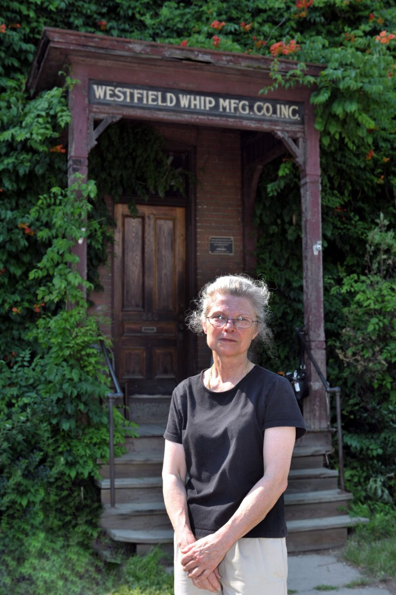 Carol Martin stands in front of her company located at 360 Elm Street in Westfield.  (File photo)