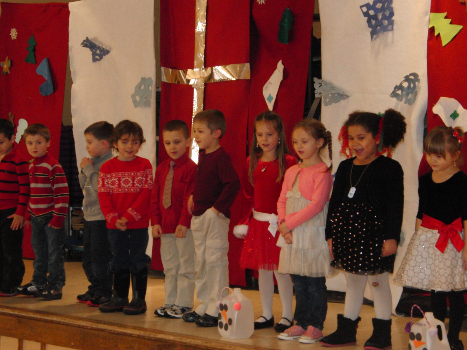 YMCA Preschoolers from the Pre-K program, singing at their Annual Holiday Show.  (Photo submitted)