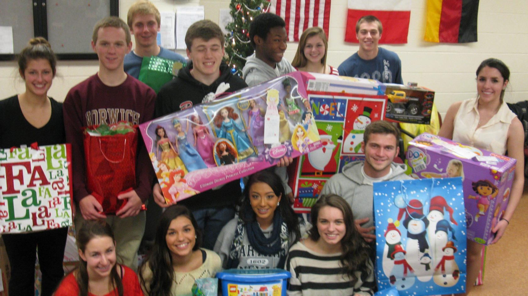 Every year the WHS Student Council works with the Westfield Salvation Army to set-up a Giving Tree in the main office.  The Salvation Army supplied the school with 100+ requests for Holiday presents for the needy, and students staff filled the requests and placed them under the tree.  (Photo submitted)