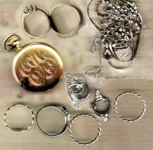 City detectives have recovered the jewelry seen in the composite image above and believe the items were stolen by a pair of burglars who have been apprehended. Any resident who recognizes any of the pieces is urged to call the detective bureau at 572 6400 to identify their stolen property.