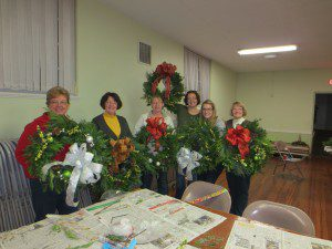Woman's Club Wreath Workshop 2013