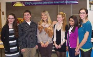 Left to right: Breanna Castor, Erik Rizzo, Maryanne Margiotta, Emily McKinney, Nabilah Khan, and Aubrey Winiarski. (Photo submitted)