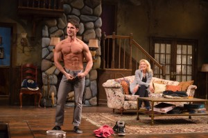 """David Gregory and Leslie Hendrix star in """"Vanya and Sonia and Masha and Spike"""" at Hartford Stage. (Photo by T. Charles Erickson.)"""