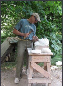 Sculptor James Rosenthal brings his art to Westfield. (Photo by Halina Wiczyk)