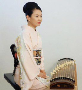 Koto soloist Masayo Ishigure performs with the Hartford Symphony.