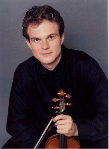 Axel Strauss, guest violinist with the Springfield Sympony.