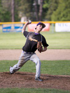 Westfield Voc. pitcher Nick Clegg delivers on Tuesday.  (Photo by Liam Sheehan)