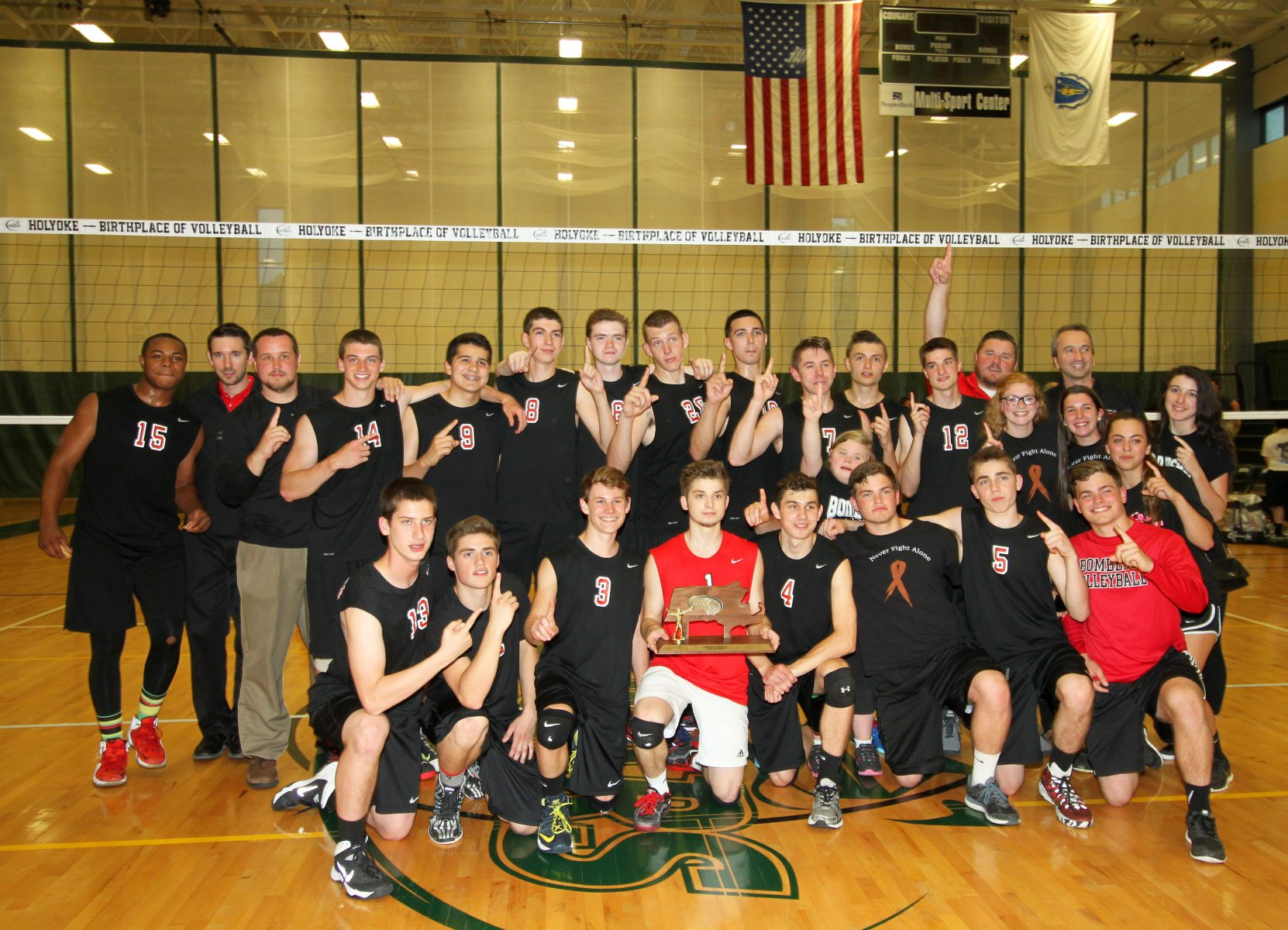 2015 WMASS D1 BOYS' VOLLEYBALL CHAMPION WESTFIELD BOMBERS