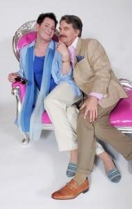 "Jamison Stern and James Lloyd Reynolds in Goodspeed Musicals' ""La Cage Aux Folles"" . (Photo by Diane Sobolewski)"