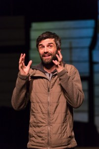 Michael Crane in The Body of an American at Hartford Stage. (Photo by T. Charles Erickson)