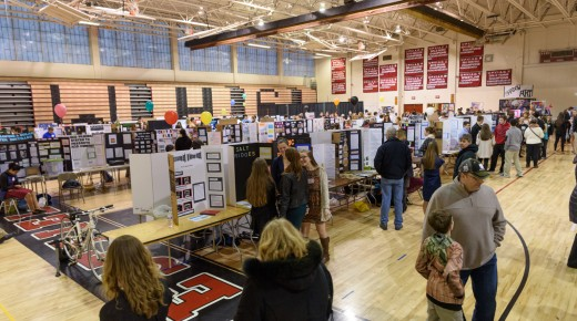 Westfield High School science fair student projects  show concerns for the environment and affordability