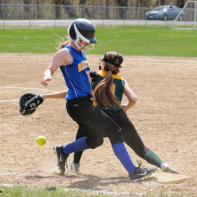 The Gateway and Southwick high school softball teams collided Saturday in Huntington. (Photo by Marc St. Onge)