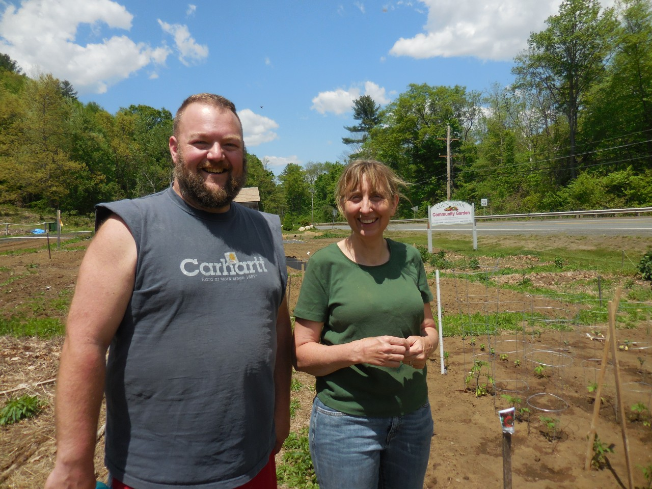 Bryan Farr and Michele Kenney of the Countryside Community Garden in Russell. (Photo by Amy Porter)