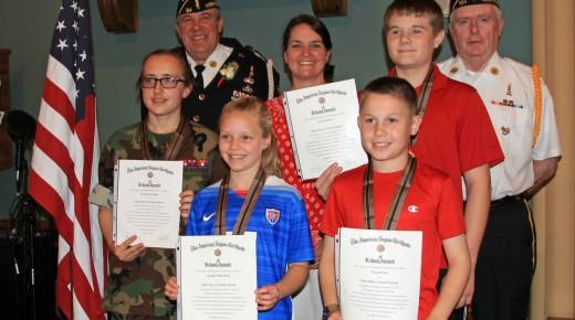 American Legion Post 124 awards its first American Legion School Medals