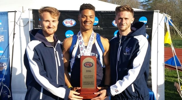 The men's track team won the MASCAC outdoor championship for the second year in a row. (Photo courtesy of Westfield State Sports)