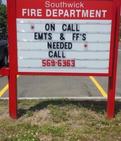 Southwick Fire Department seeks volunteers