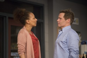 Tamara Tunie and Michael Hayden in the world premiere of American Son at Barrington Stage. Photo by Scott Barrow.