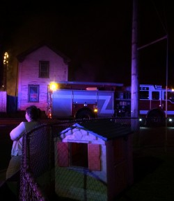 Meadow Street fire displaces one