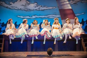 The Major General's Daughters in The Pirates of Penzance at Pittsfield's Barrington Stage. Photo by Kevin Sprague