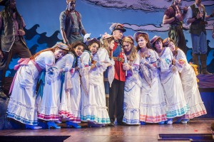 David Garrison and the Daughters in The Pirates of Penzance at Pittsfield's Barrington Stage. Photo by Kevin Sprague