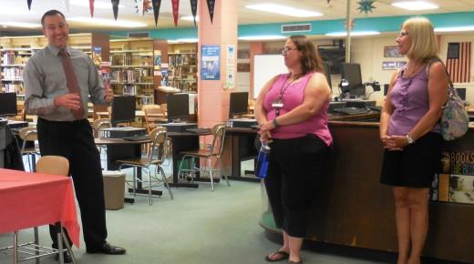 Westfield High School Principal Charles Jendrysik holds Meet and Greet