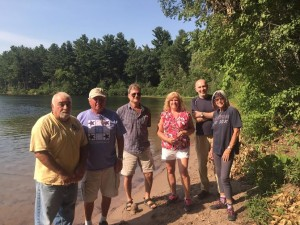 From left to right: Bill Asselin, John Whalley, Dennis Clark, Mary Lynn Sabourin, Seth Kellogg, and Rosemary Arnold have all contributed with the Conserve North Pond project. (Photo by Greg Fitzpatrick)