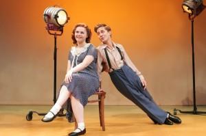 Ruby Rakos as Judy Garland and Michael Wartella as Mickey Rooney in Goodspeed's Chasing Rainbows. Photo by Diane Sobolewski.