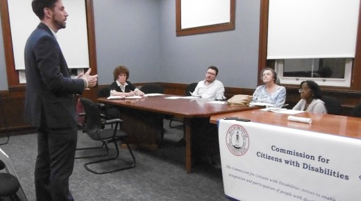 Commission for Citizens with Disabilities reviews Athenaeum renovations