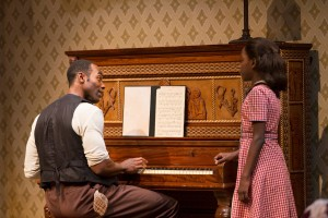 Clifton Duncan and Elise Taylor in August Wilson's The Piano Lesson. Photo by T. Charles Erickson
