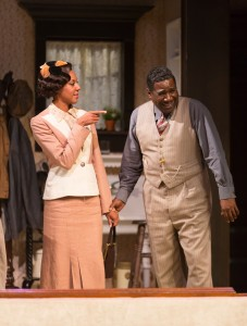 Christina Acosta Robinson and Cleavant Derricks in August Wilson's The Piano Lesson. Photo by T. Charles Erickson