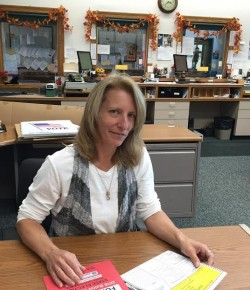 Southwick Town Clerk providing information for registered voters