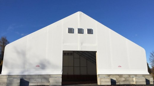 New salt shed near its completion
