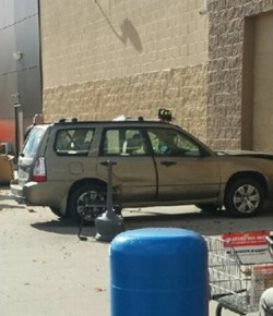 Car crashed into Wal-Mart in Westfield