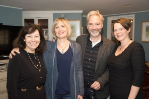 Made in the Berkshires: Kate Maguire of Berkshire Theatre Group,actors Corinna May and David Adkins, and director Kristen van Ginhoven of WAM.
