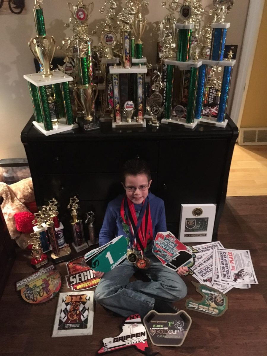 Seven-year-old making a name for himself on the dirt track
