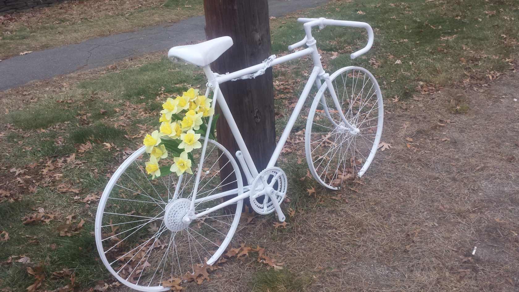 Ghost bike shows dangers that still exist in city for cyclists