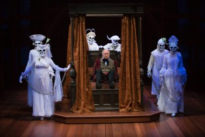 Bill Raymond and the ghosts of A Christmas Carol. Photo by T. Charles Erickson.
