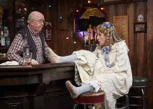 Ron Carroll and Jenn Harris in Christmas on The Rocks at TheaterWorks, Hartford. Photo by Lanny Nagler.