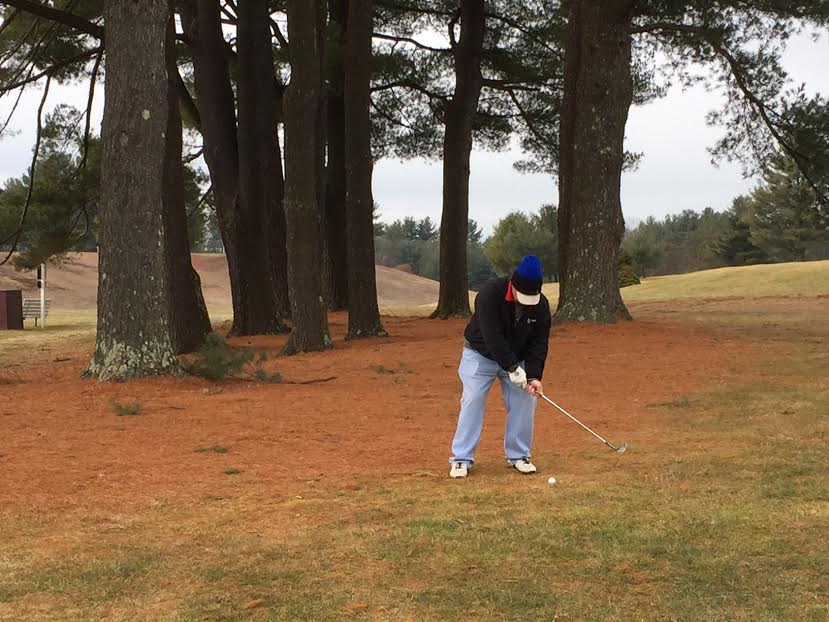 Local golf course opens back up due to the warmer weather