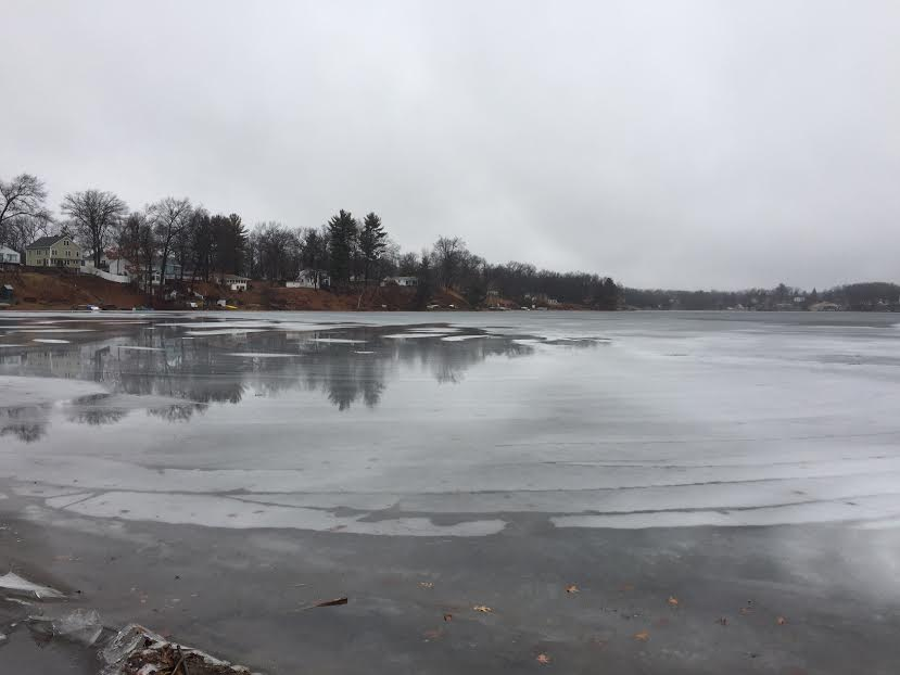 Town officials making the public aware of the dangers on the ice