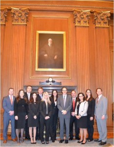 Westfield attorney Kevin Chrisanthopoulos (4th from right) joins other attorneys from across the country as they are admitted to practice in the Supreme Court of the United States (submitted photo).
