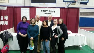 Some of the volunteers from the Great Westfield Credit for Life Fair. From left to right: Christina Beeke, Linda Saltus, Dick Caruso, Cathy Gendreau, Doug Morash, Jeni Cutter, Jayne Mulligan