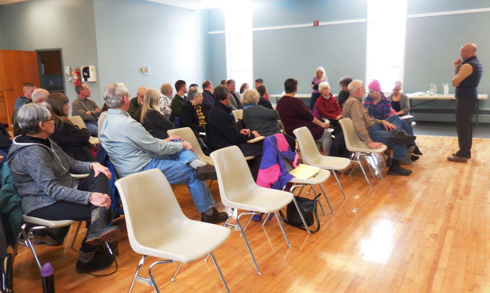 Senator Adam Hinds visits Huntington