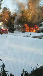 A picture reportedly of the fire on Michael Drive, that was submitted to the Westfield Fire Department from someone reportedly near the fire Saturday