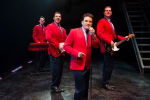 Jersey Boys (l to r) Cory Jeacoma, Matthew Dailey, Aaron De Jesus and Keith Hines. Photo by Jeremy Daniel
