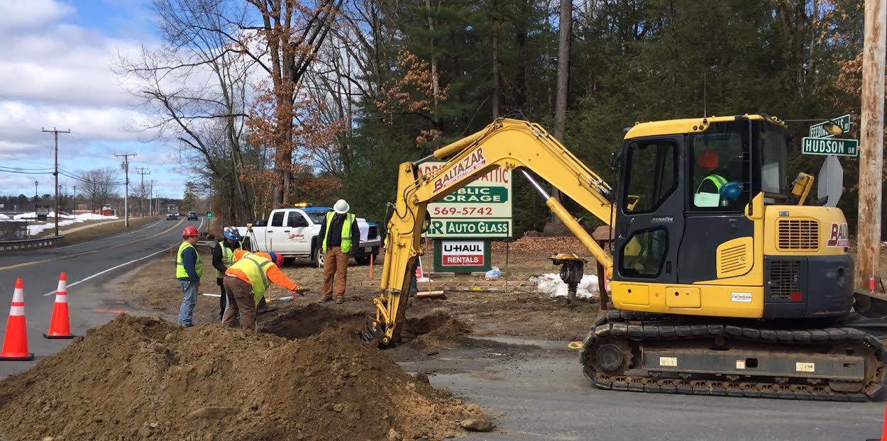 Feeding Hills Road project is underway