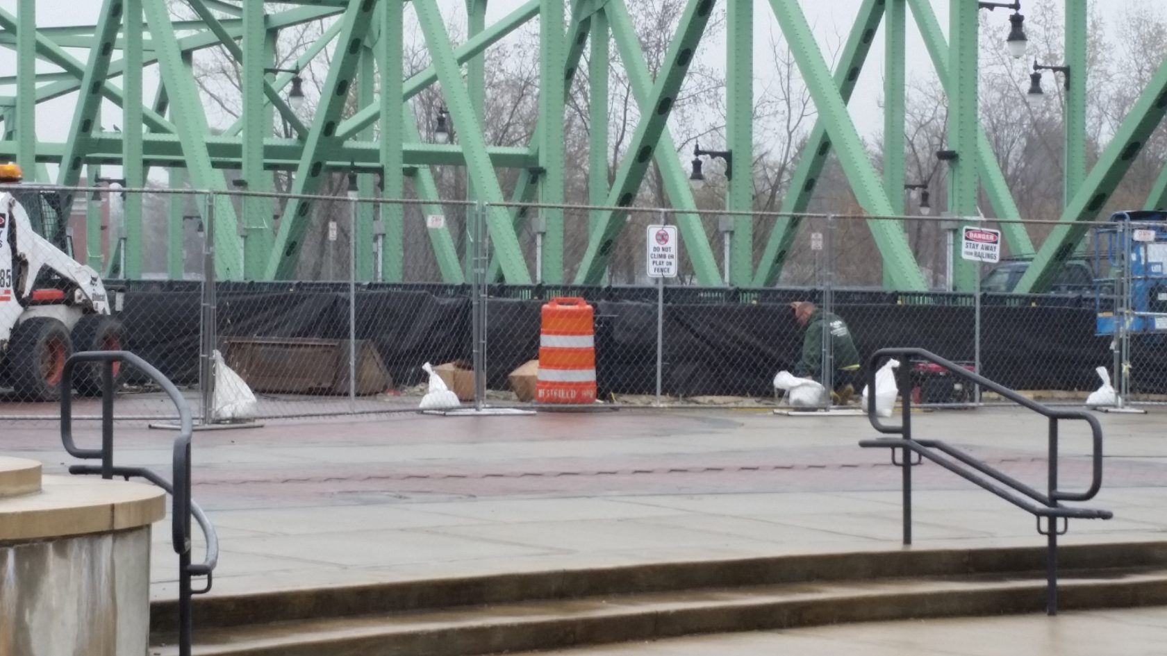 Bridge balustrade project moving along