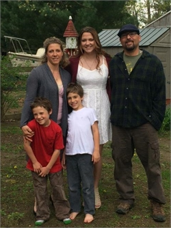 Wife running in support of husband; a brain injury survivor