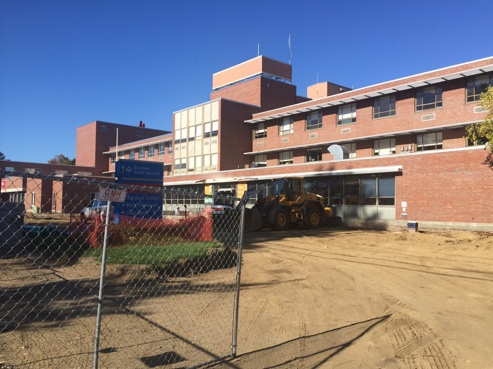 Construction underway for main entrance of Noble Hospital