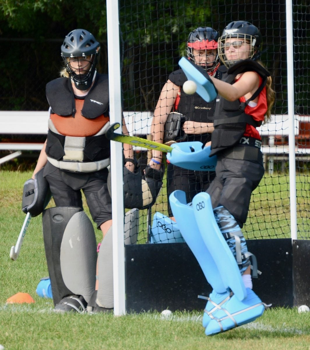 Westfield High School Field Hockey Preseason Goalie Drills The